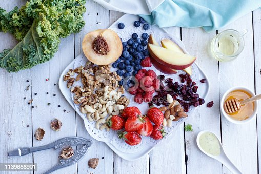 854725402 istock photo Homemade breakfast with berries and nuts 1139866901