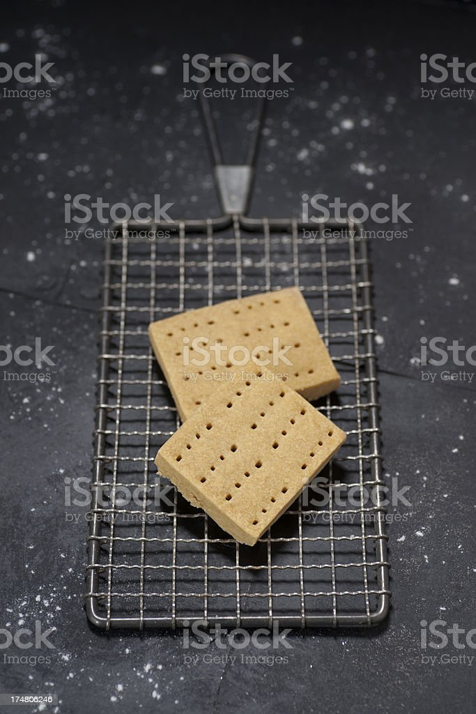 Homemade Brown Sugar Shortbread royalty-free stock photo