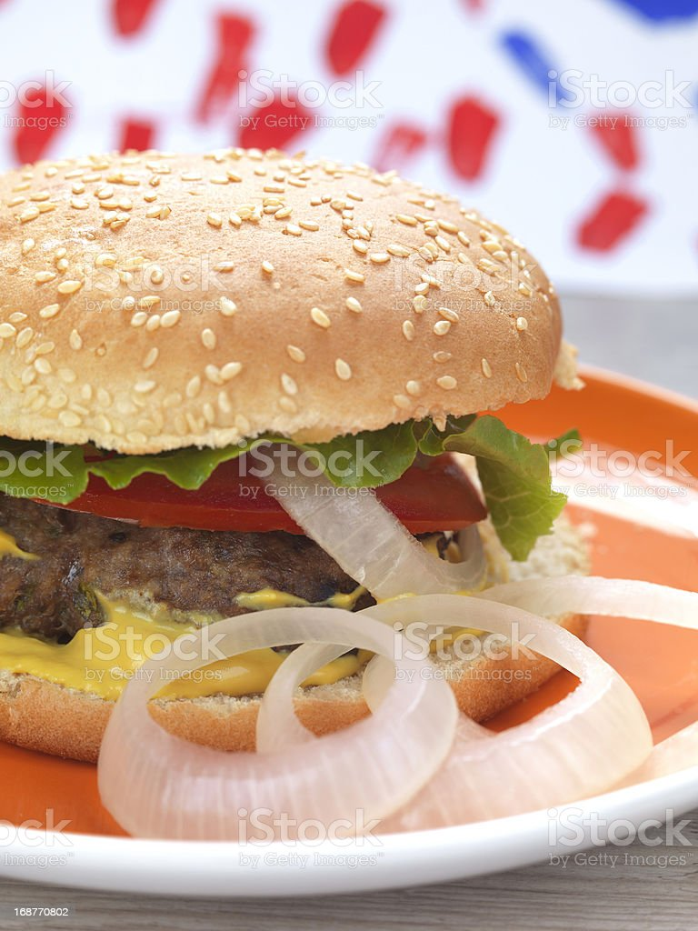 homemade burger royalty-free stock photo