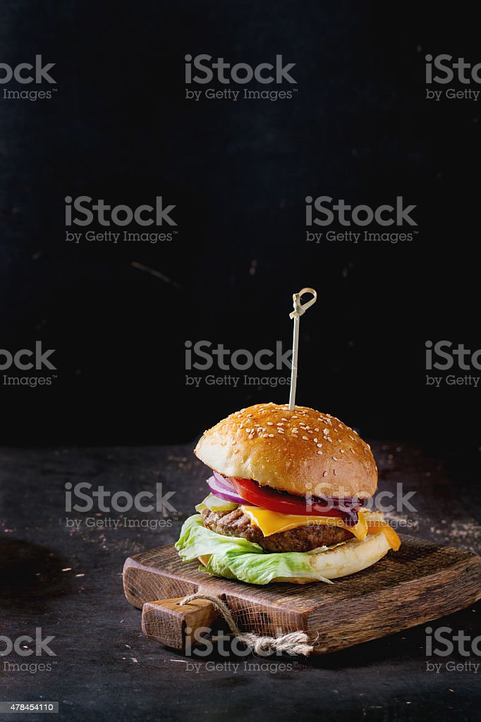 Homemade Burger stock photo