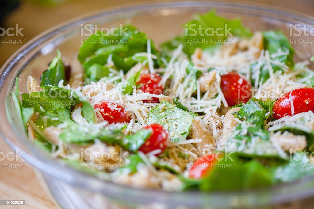 Homemade Caesar Salad stock photo