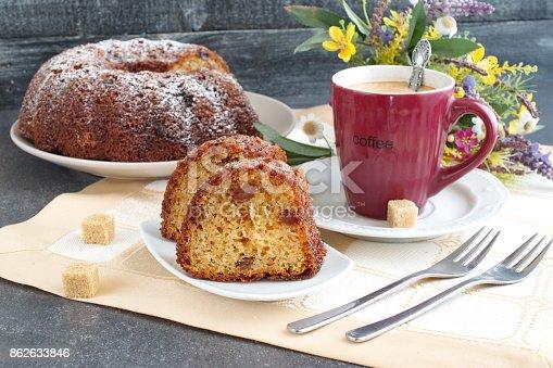 istock Homemade cake with raisins 862633846