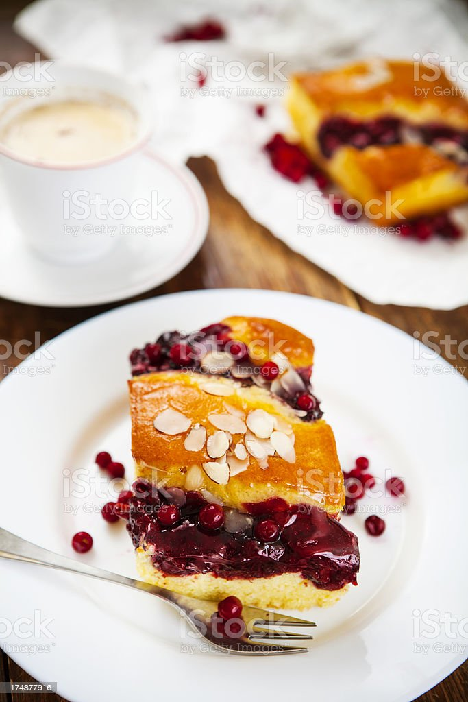 Homemade cakes and Coffee royalty-free stock photo