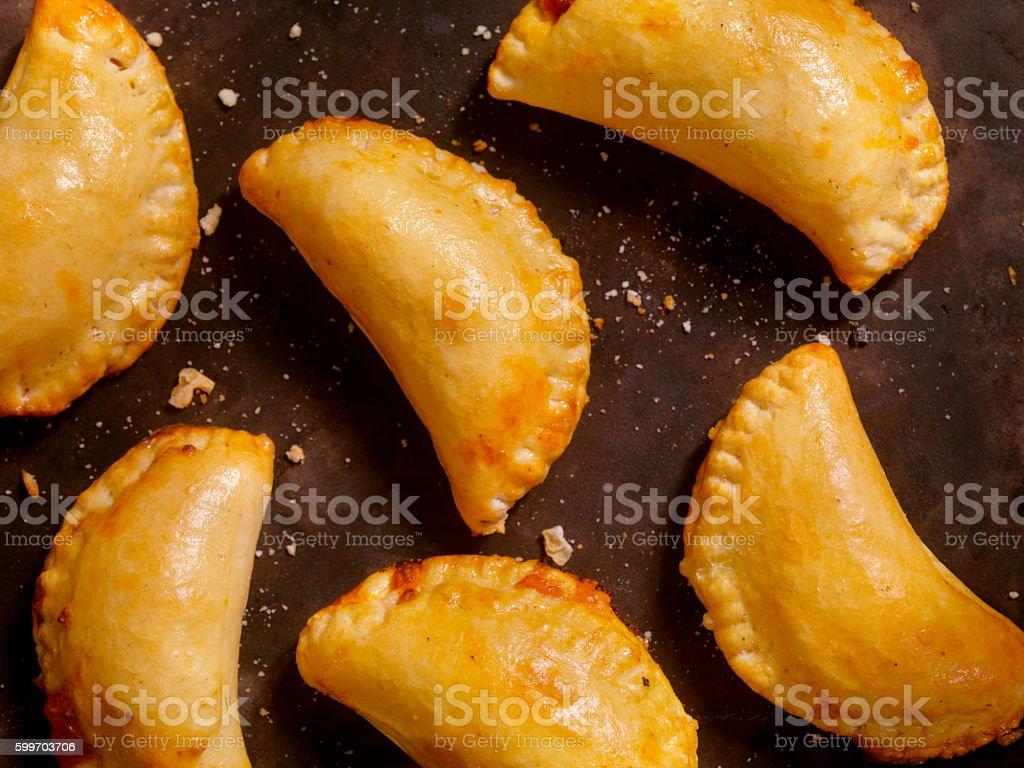 Homemade Calzones stock photo