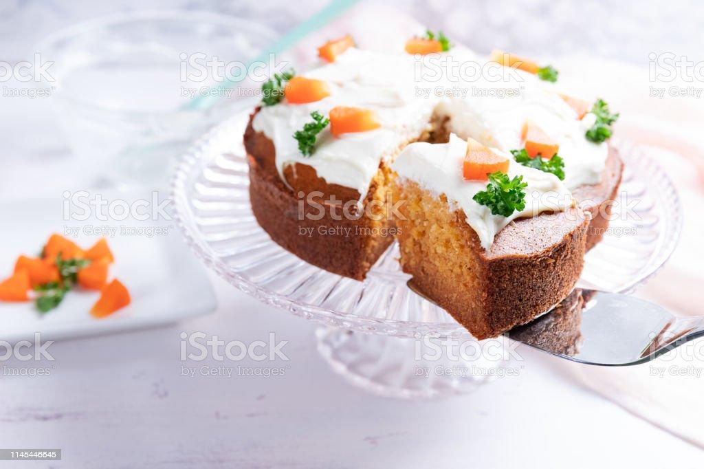 自家製にんじんケーキ ストックフォト
