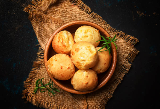 Homemade cheese buns stock photo