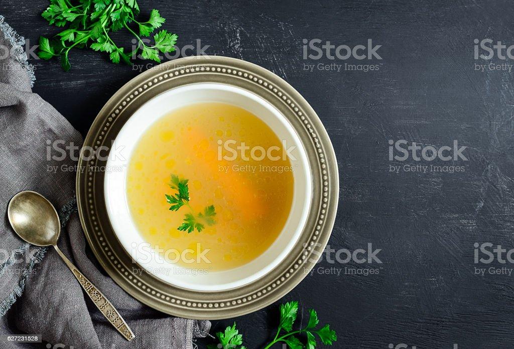 Homemade chicken bouillon - Photo