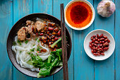 homemade Chinese gravy rice noodles
