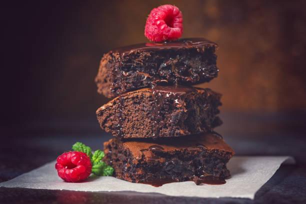 Hausgemachte Schokoladen-Brownies – Foto