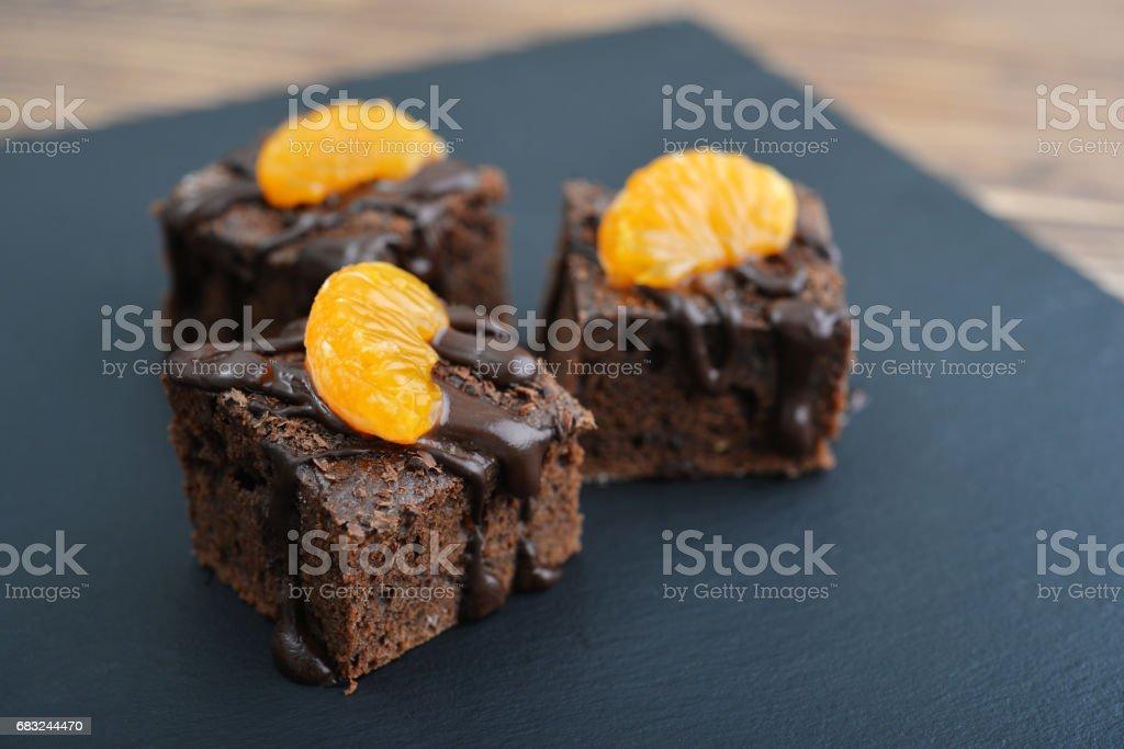 自製巧克力蛋糕 免版稅 stock photo