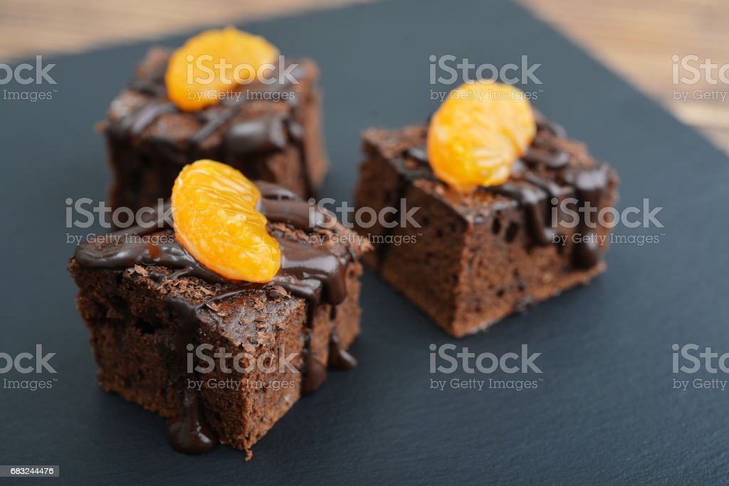 Homemade chocolate brownies royalty-free stock photo
