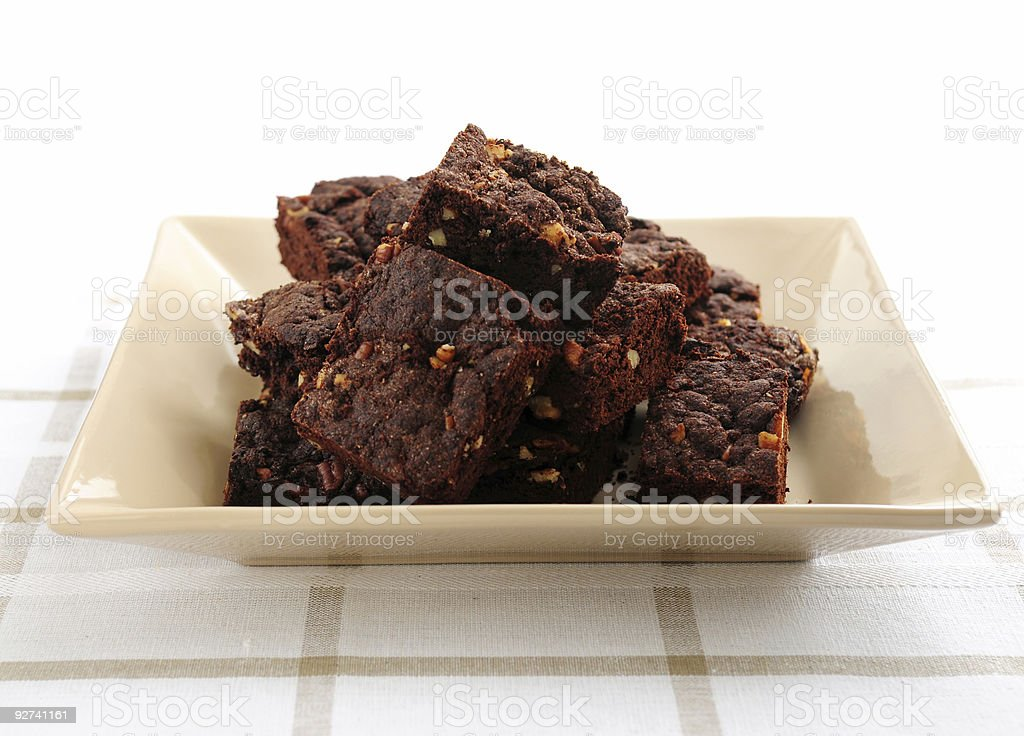 Homemade chocolate brownies royalty-free stock photo