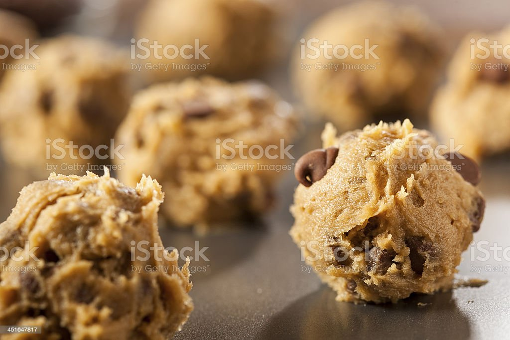 Homemade Chocolate Chip Cookie Dough stock photo