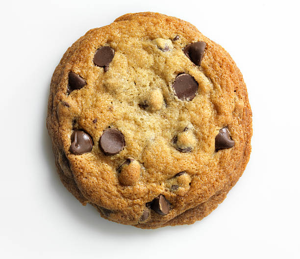 Homemade Chocolate Chip Cookie on white, overhead, XXXL  burwellphotography stock pictures, royalty-free photos & images