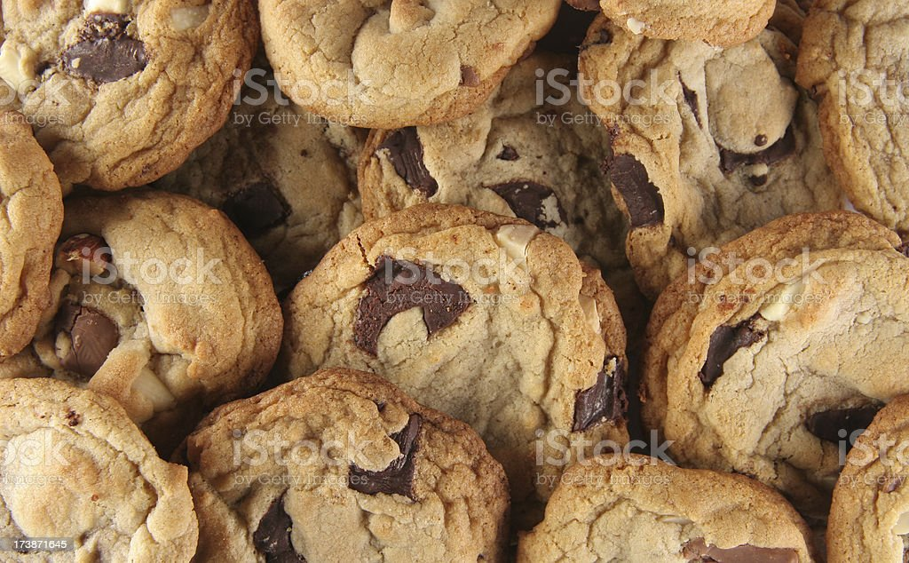 Homemade Chocolate Chip Cookies royalty-free stock photo