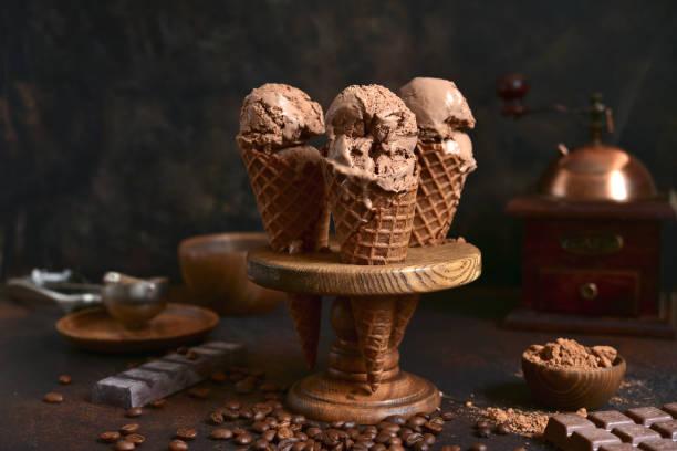 Hausgemachtes Schokoladenkaffee-Eis – Foto