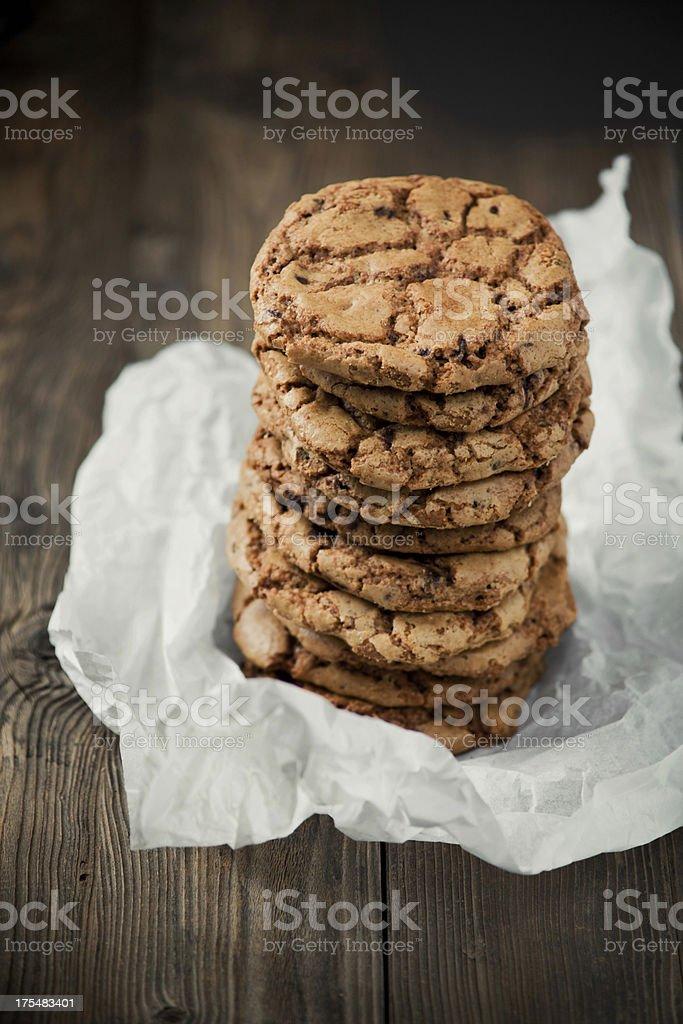 Homemade chocolate cookies stock photo