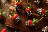 istock Homemade Chocolate Dipped Strawberries 538687337