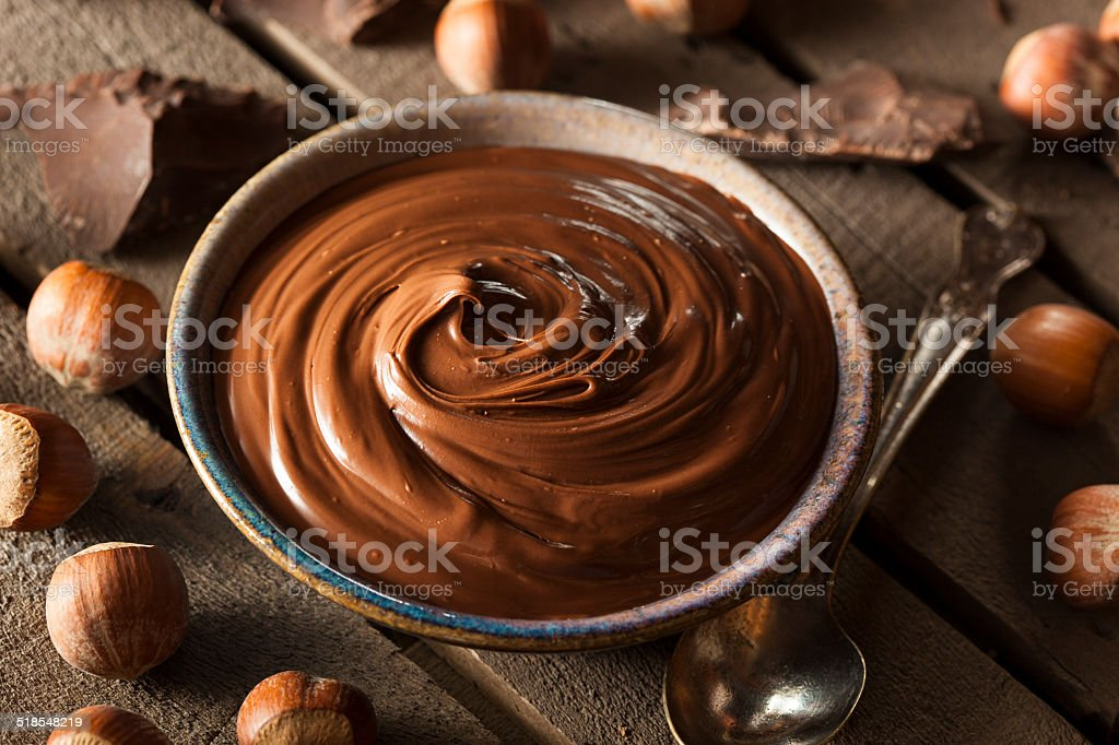Homemade Chocolate Hazelnut Spread stock photo