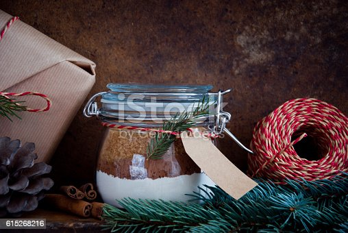 istock Homemade Christmas Cake Mix in a Jar 615268216