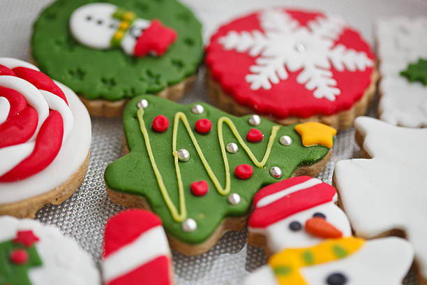 Homemade christmas cookies - gingerbread Homemade christmas cookies - gingerbread sugar cookie stock pictures, royalty-free photos & images