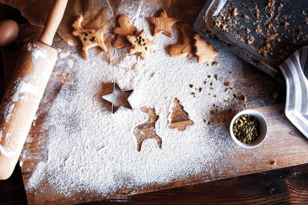 homemade christmas cookies - christmas cookies imagens e fotografias de stock