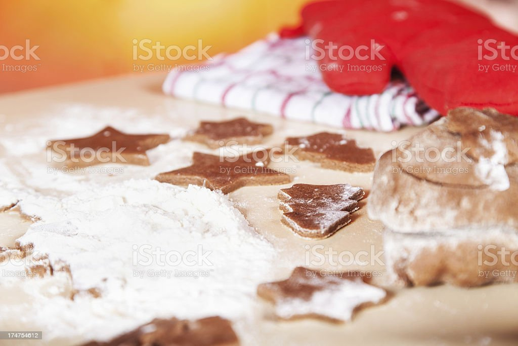 Homemade Christmas cookies royalty-free stock photo