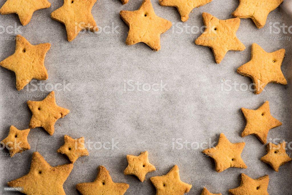 Homemade Christmas cookies royalty-free stock photo