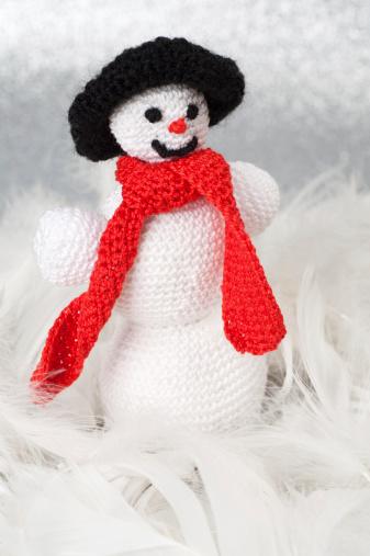 Caseras Navidad Decoración De Crochet Foto de stock y más banco de imágenes de Adviento