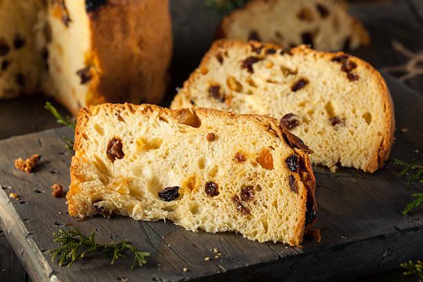 natale ancora panettone pane fatto in casa - panettone foto e immagini stock