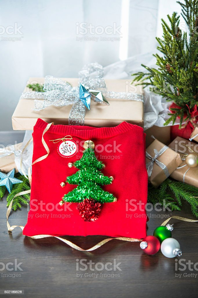 homemade christmas gifts youll want to regift ugly christmas sweater royalty free - Homemade Christmas Gifts