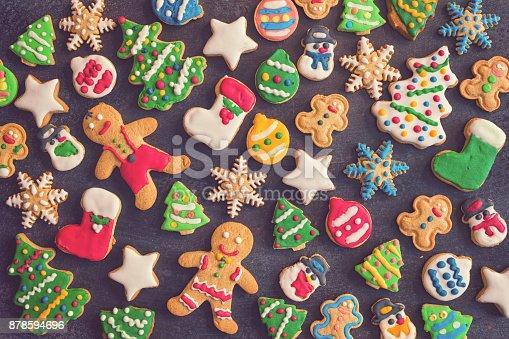 istock Homemade Christmas Gingerbread Cookies 878594696