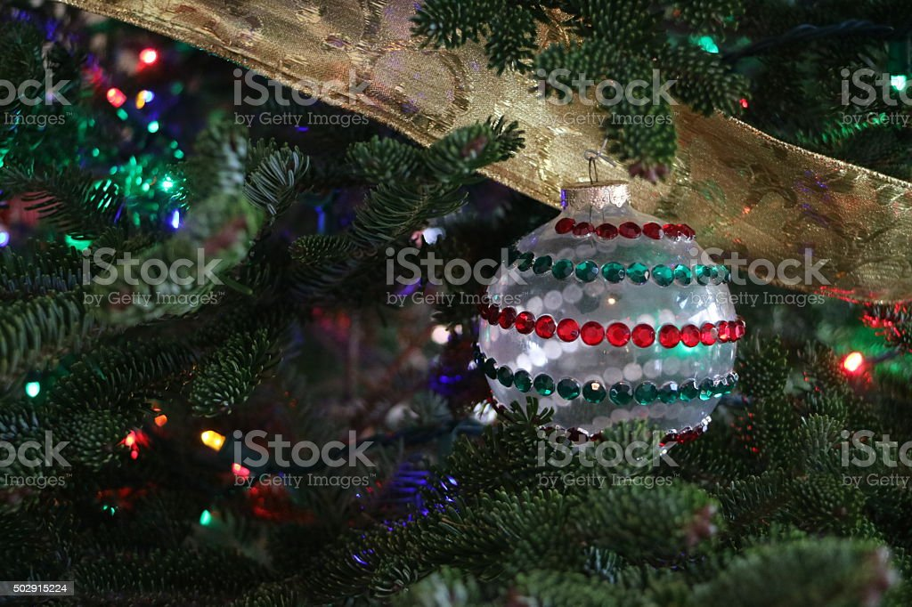 Homemade Christmas Ornament stock photo
