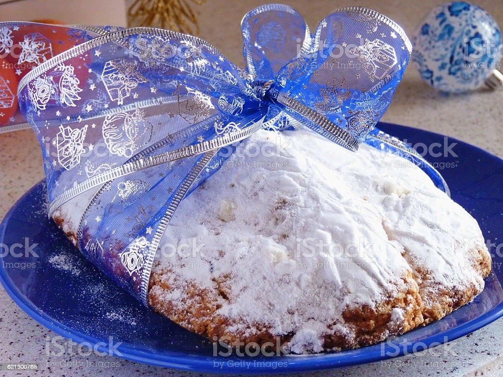 Homemade Christmas stollen photo libre de droits