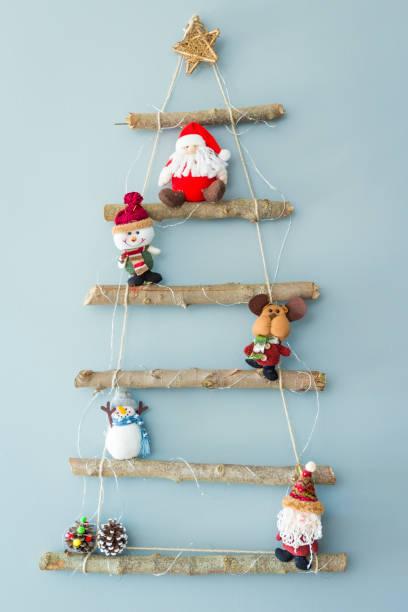 hausgemachte weihnachtsbaum - weihnachtsessen ideen stock-fotos und bilder