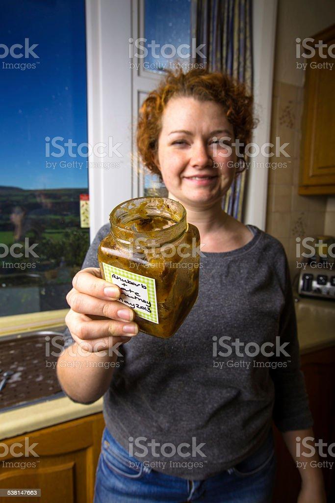 Homemade Chutney stock photo