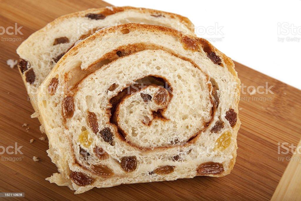 Homemade Cinamon Raisin Bread stock photo