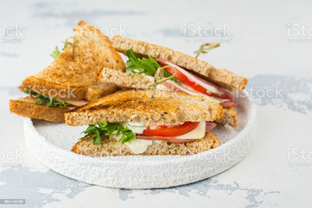 Homemade club sandwiches foto stock royalty-free