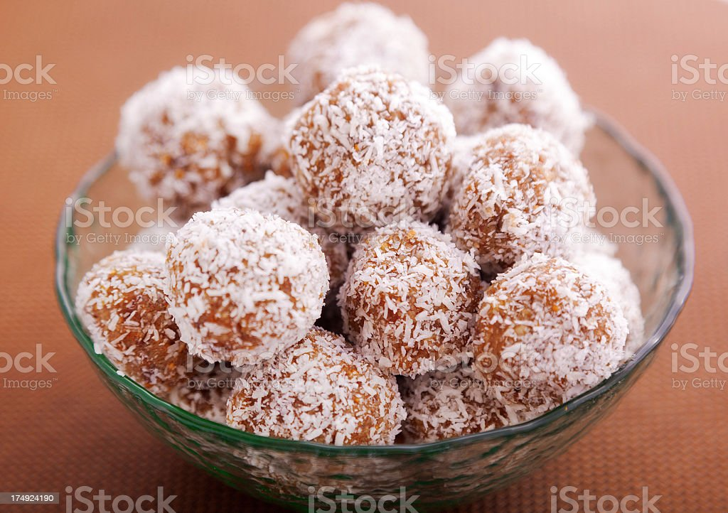 Homemade coconut candies royalty-free stock photo