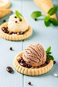 istock Homemade coffee and chocolate ice cream 1150704285