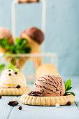 istock Homemade coffee and chocolate ice cream 1155595408