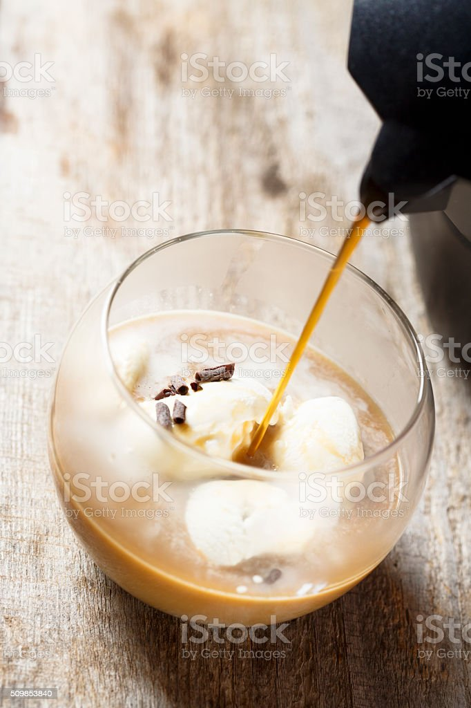 Homemade coffee dessert stock photo