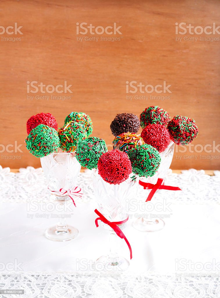 Homemade Colorful Cakepops In Vases Stock Photo More Pictures Of