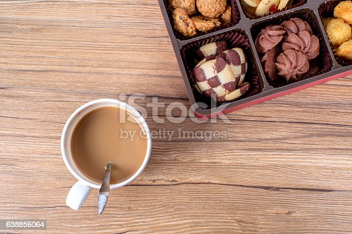 homemade cookies and coffee cup