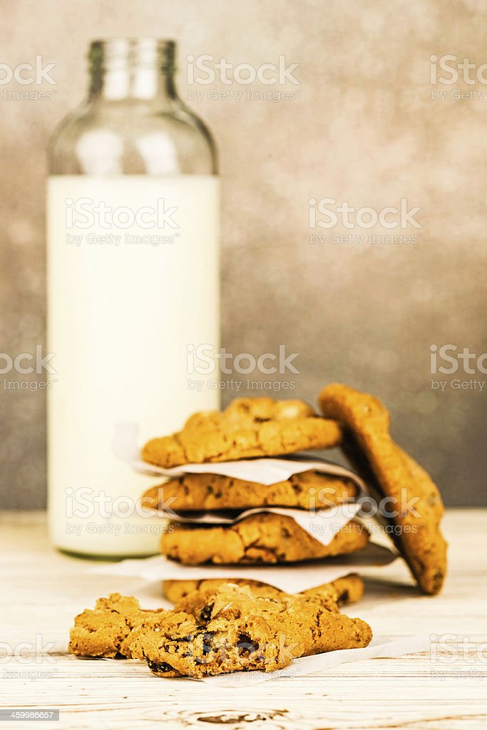 Homemade Cookies and Milk royalty-free stock photo