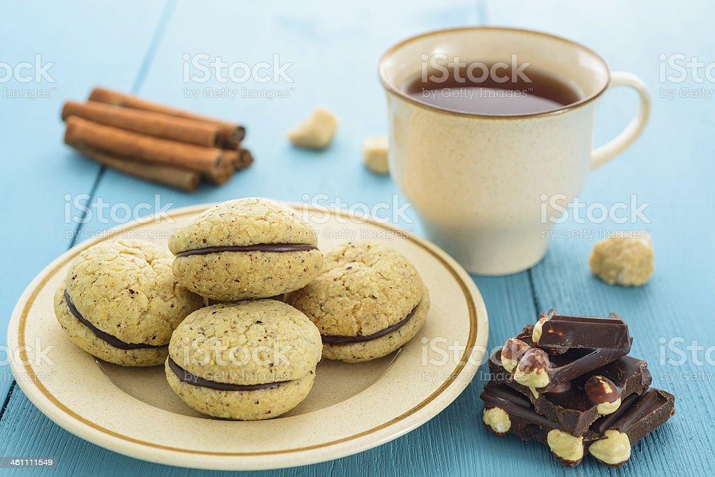 Homemade cookies and tea royalty-free stock photo