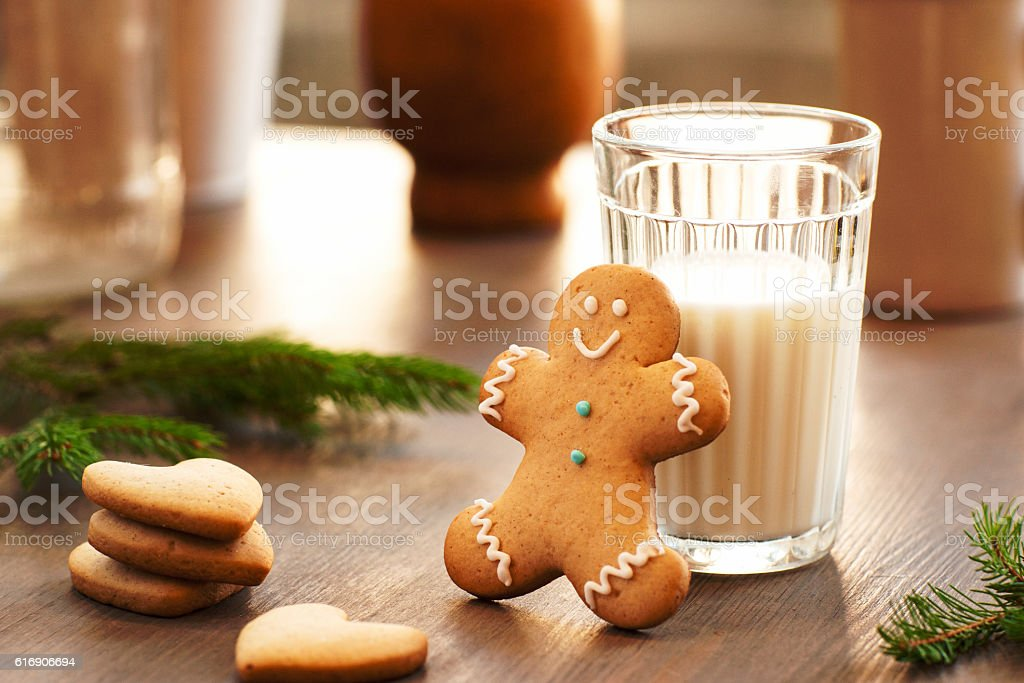 Homemade cookies for the feast of Santa Claus stock photo