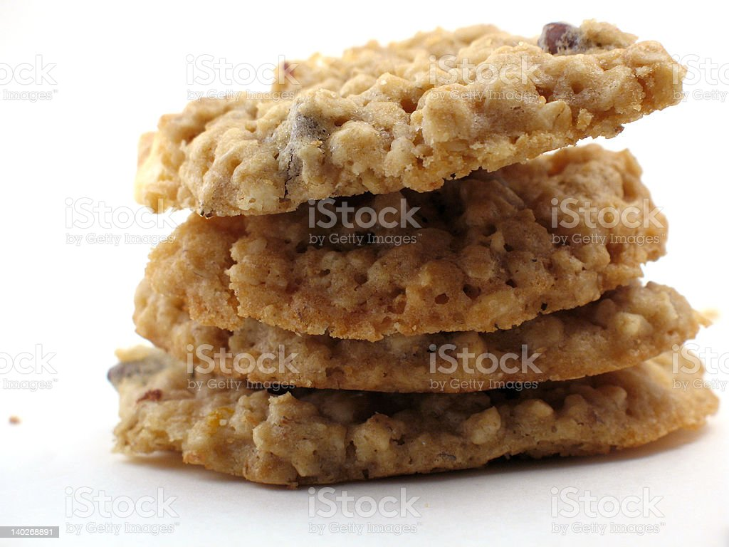 Homemade cookies in a pile royalty-free stock photo
