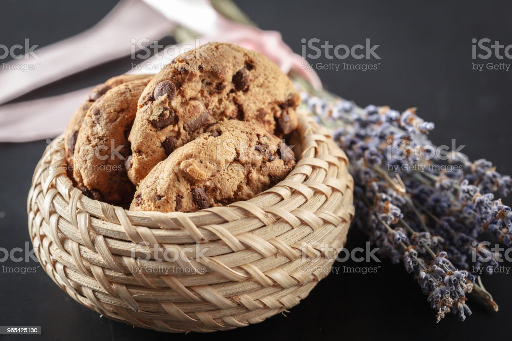 Homemade cookies on a black background royalty-free stock photo