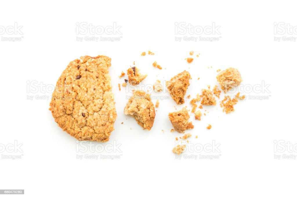 homemade cookies on white background stock photo